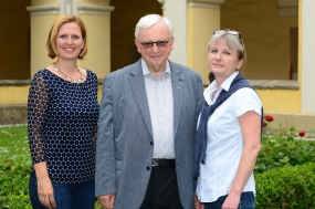 Dompfarre: vlnr: Irene Bamberger, Norbert Burmettler, Patricia Korten